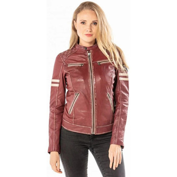 Vêtements Femme Vestes en cuir / synthétiques Daytona KYERA SHEEP VICTORIA VEG RED CHILI PËPPER Rouge