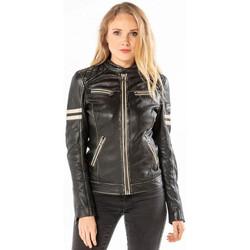 Vêtements Femme Vestes en cuir / synthétiques Daytona KYERA SHEEP VICTORIA VEG BLACK Noir