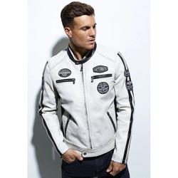 Vêtements Homme Vestes en cuir / synthétiques Daytona GALIANO SHEEP ATLAS WHITE Blanc