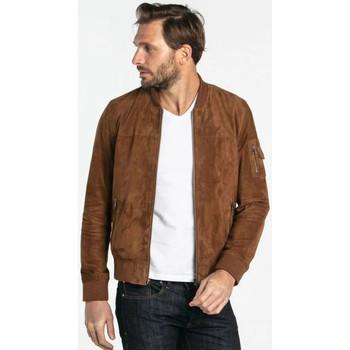 Vêtements Homme Vestes en cuir / synthétiques Daytona TED GOAT SUEDE TOBACCO Tabac