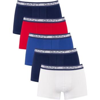 Sous-vêtements Homme Boxers Gant Lot de 5 malles basiques multicolore