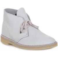 Chaussures Boots Clarks DESERT BOOT M WHITE Bianco