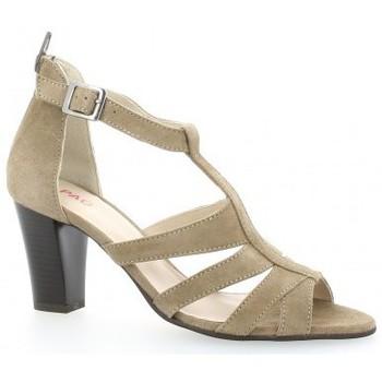 Chaussures Femme Sandales et Nu-pieds Vidi Studio Nu pieds cuir velours Taupe