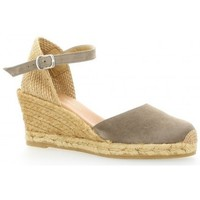 Chaussures Femme Espadrilles Pao Espadrille cuir velours Taupe