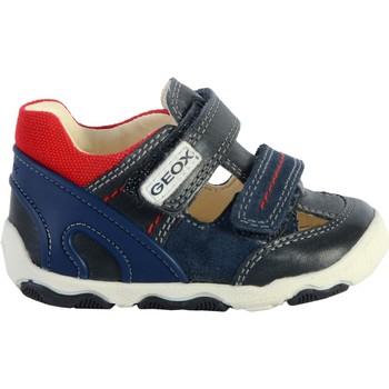 Chaussures Enfant Sandales et Nu-pieds Geox Basket Cuir  Balu Marine/Rouge
