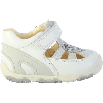 Chaussures Fille Sandales et Nu-pieds Geox Basket Cuir Bébé Balu Blanc