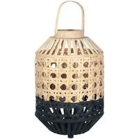 Maison & Déco Lanternes Signes Grimalt Farol Bambou Naturel Negro