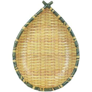 Maison & Déco Vides poches Signes Grimalt Plateau Bambou Mélamine Frutero Amarillo