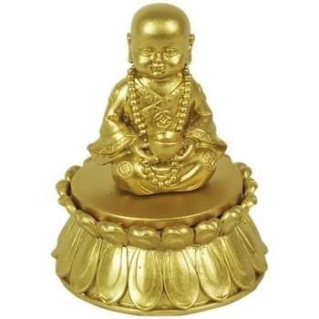 Maison & Déco Statuettes et figurines Signes Grimalt Golden Buddha Box Dorado