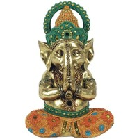 Maison & Déco Statuettes et figurines Signes Grimalt Yoga Ganesha Dorado