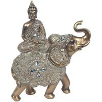 Maison & Déco Statuettes et figurines Signes Grimalt Bouddha Assis Sur Elephant Dorado