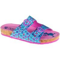 Chaussures Fille Mules Skechers Granola Bleu, Rose