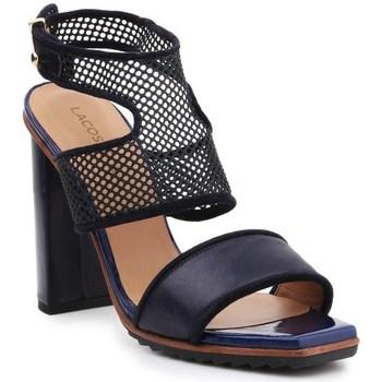 Chaussures Femme Sandales et Nu-pieds Lacoste Eliana 5 Srw Noir, Bleu marine