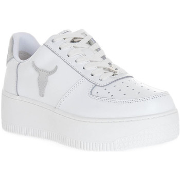 Chaussures Femme Baskets mode Windsor Smith RICH BRAVE WHITE SILVER PERLISHED Bianco