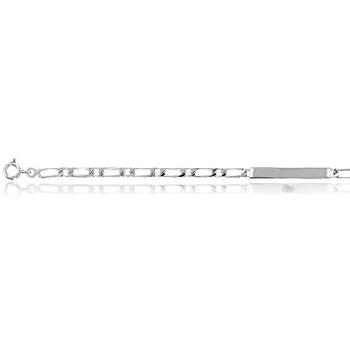 Montres & Bijoux Bracelets Cleor Gourmette  en Argent 925/1000 Blanc