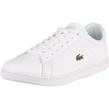 Chaussures Homme Baskets mode Lacoste Baskets en cuir Carnaby BL21 1 SMA blanc