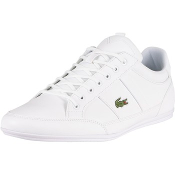 Chaussures Homme Baskets mode Lacoste Baskets en cuir synthétique Chaymon BL21 1 CMA blanc
