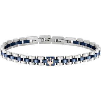 Montres & Bijoux Femme Bracelets Maserati Bracelet  en Acier Bicolore Gris