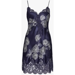 Vêtements Femme Pyjamas / Chemises de nuit Aubade nuisette en soie toi mon amour Bleu Nuit