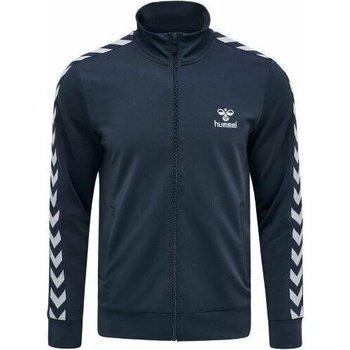 Vêtements Homme Vestes de survêtement Hummel Veste Zip  Nathan 2.0 bleu marine/blanc
