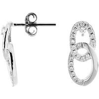 Montres & Bijoux Boucles d'oreilles Cleor Boucles d'oreilles  en Argent 925/1000 et Oxyde Blanc