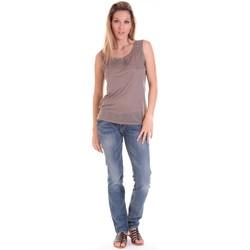 Vêtements Femme Débardeurs / T-shirts sans manche Sud Express DEBARDEUR DOTESSE BRONZE Or