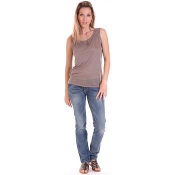 Vêtements Femme Débardeurs / T-shirts sans manche Sud Express DEBARDEUR DOTESSE BRONZE Doré