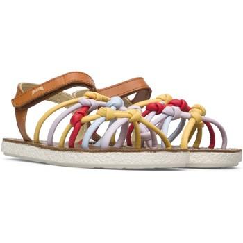 Chaussures Fille Sandales et Nu-pieds Camper Sandales cuir MIKO marron