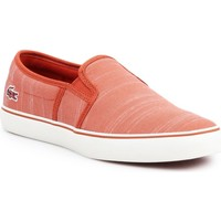 Chaussures Femme Slip ons Lacoste Gazon 119 1 CFA 7-37CFA0015-262 brązowy