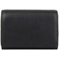 Sacs Femme Portefeuilles Fuchsia Porte monnaie cuir grainé  F6177- Noir Multicolor