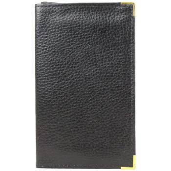 Sacs Homme Pochettes / Sacoches A Découvrir ! Porte papier extra plat à trois rabat en cuir Noir Multicolor