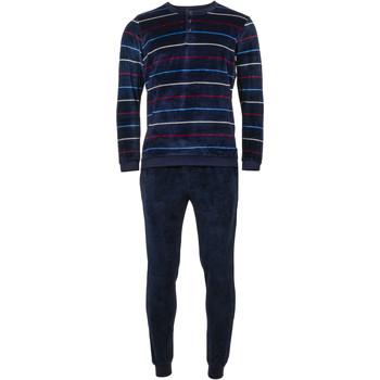 Vêtements Homme Pyjamas / Chemises de nuit Guasch - pyjama long BLEU NUIT
