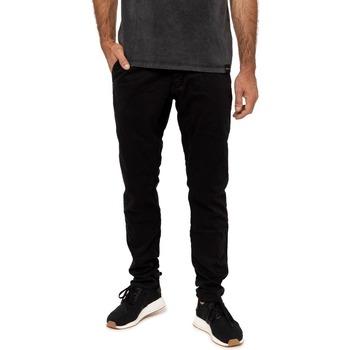 Vêtements Homme Chinos / Carrots Pullin Pantalon  DENING CHINO BLACK NOIR