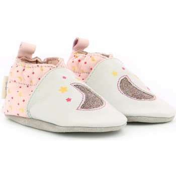 Chaussures Fille Chaussons bébés Robeez Glossy Night BEIGE
