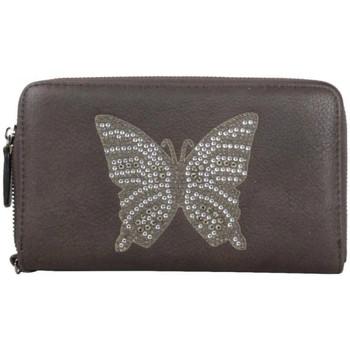 Sacs Femme Portefeuilles A Découvrir ! Grand portefeuille zippé déco papillon à strass Multicolor