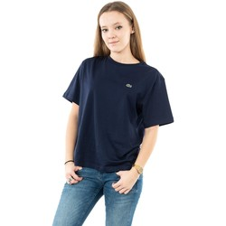 Vêtements Femme T-shirts manches courtes Lacoste tf5441 166 marine bleu