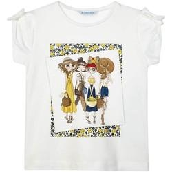 Vêtements Fille T-shirts manches courtes Mayoral  Blanco