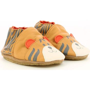 Chaussures Garçon Chaussons bébés Robeez Awesome Tiger CAMEL