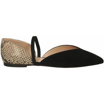 Chaussures Femme Ballerines / babies Il Borgo Firenze SUEDE/DIAMANT nero-sabbia