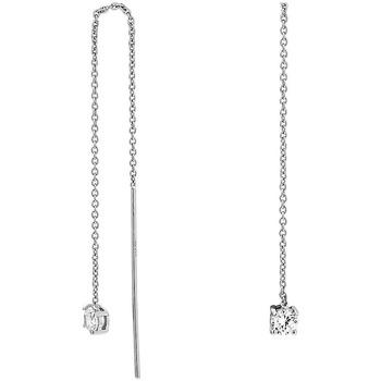 Montres & Bijoux Femme Boucles d'oreilles Cleor Boucles d'oreilles  en Argent 925/1000 et Oxyde Blanc