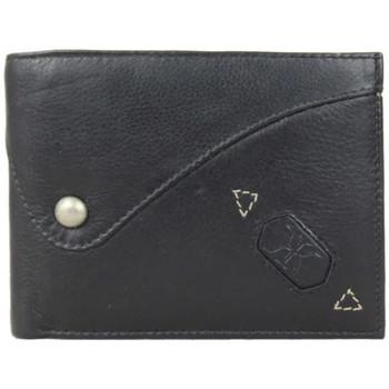 Sacs Homme Pochettes / Sacoches DDP Porte monnaie  cuir mat Noir Multicolor