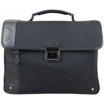 Sacs Porte-Documents / Serviettes David William Porte documents  toile nylon / cuir noir S2 Multicolor