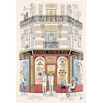 Maison & Déco Nappe Winkler Torchon Façade Boulangerie ECRU