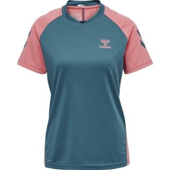 Vêtements Enfant T-shirts & Polos Hummel Maillot d'entrainement enfant  hmlACTION bleu/rose