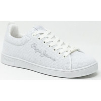 Chaussures Baskets mode Pepe jeans BROMPTON WOVEN BLANC Blanc