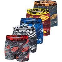 Sous-vêtements Homme Boxers Umbro Lot de 5 Boxers homme imprimé Sublimation Noir