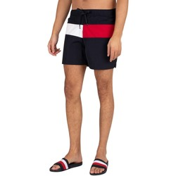 Vêtements Homme Maillots / Shorts de bain Tommy Hilfiger Short de bain régulier à cordon de serrage moyen bleu