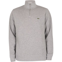 Vêtements Homme Sweats Lacoste Sweat à col zippé gris