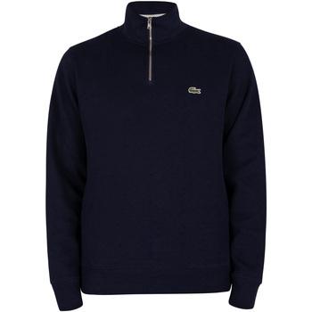 Vêtements Homme Sweats Lacoste Sweat à col zippé bleu