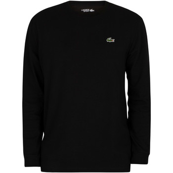 Vêtements Homme T-shirts manches longues Lacoste T-shirt croco à manches longues sport noir